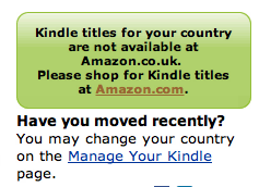 Kindle titles for your country are not available at Amazon.co.uk.
