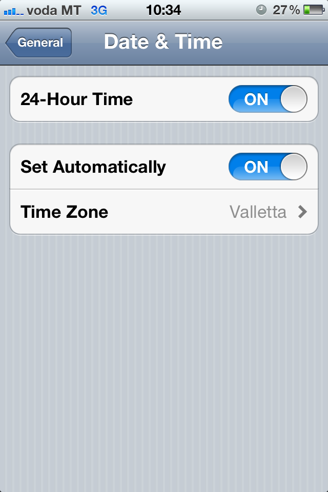 date and time app for iphone